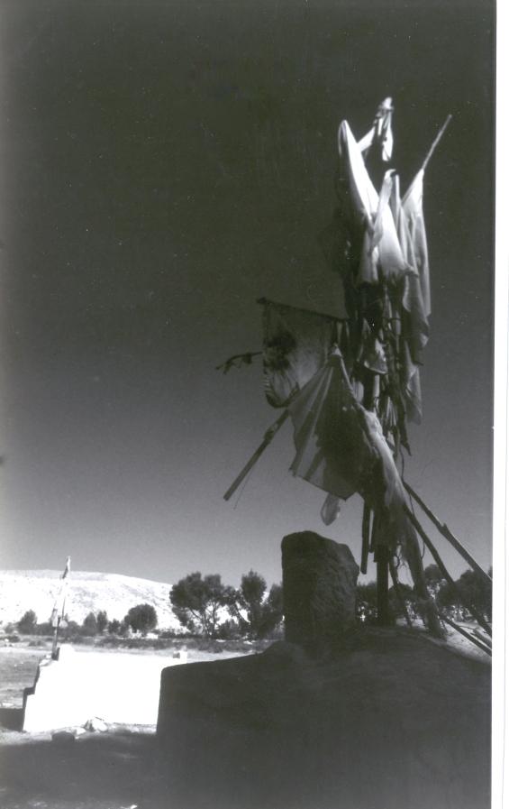 קבר שיח' אל אעסם צילום דב ברנע 1991'