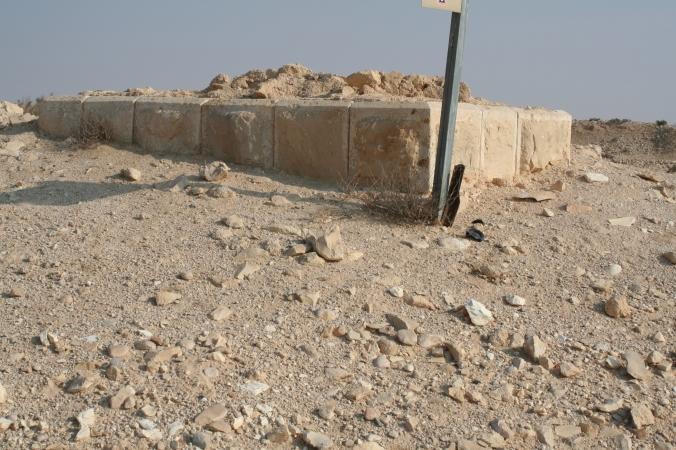 IMG_6383 שרידי מבנה הבאר ניצנה